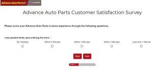 Advance Auto Feedback Survey