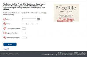 My Price Rite Feedback Survey