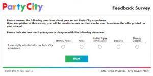Party City Online Survey