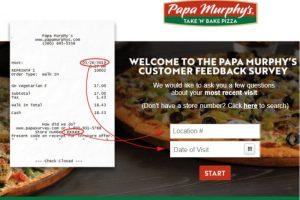 papa murphy's survey