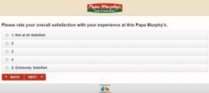 papa murphy's Customer survey