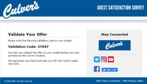 Culver's Sweepstakes