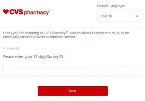 CVS Health Customer Survey