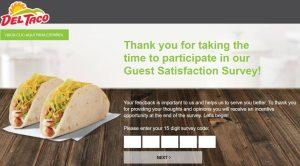 Del Taco Online Survey