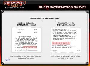 Firehouse Sub Guest Survey