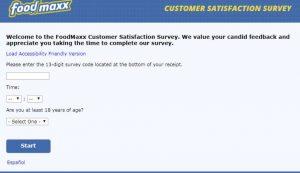 Foodmaxx.com/survey