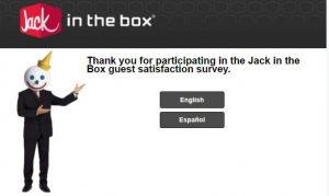 Jack In The box customer feedback Survey