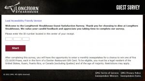 Long Horn Guest Satisfaction Survey