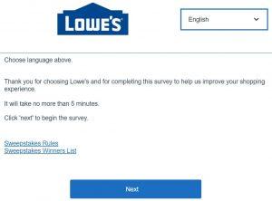 Lowes Customer Feedback Survey