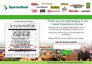 Spartan Nash Guest Satisfaction Survey