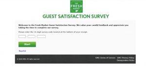 How to take the fresh market survey