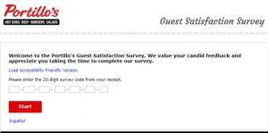 Portillo's Online Survey