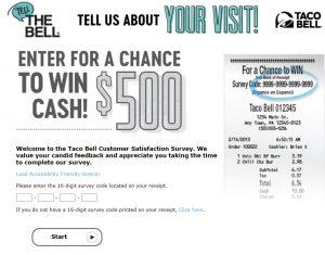 www.tellthebell.com Survey